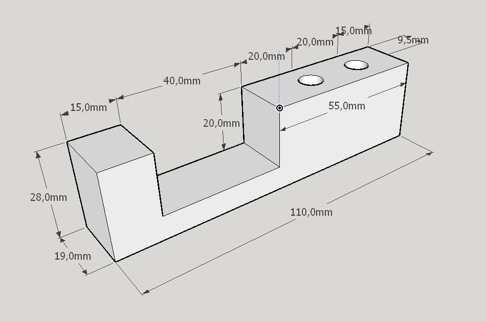 2020-07-06 11_26_56-servo-halter_v0.1.skp - SketchUp Make 2017