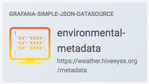 grafana-metadata-api« - Datenanzeige / Data display - Hiveeyes